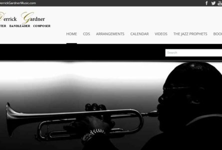 "The Brothers Of Invention are proud to announce the re-launch of DerrickGardnerMusic.com, our latest ""Inspired Solutions"". Jazz trumpeter, Derrick Gardner, inspired by the finest hard-blowing funky bop bands of the 1960""s, is working to extend that great tradition as a composer, arranger, performer, leader and educator."
