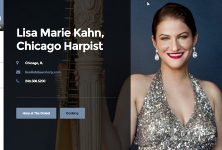 The Brothers Of Invention are proud to announce the launch of ChiTownHarp.com, official website for Lisa Marie Kahn, Harpist. Lisa Marie Kahn is currently the main harpist for The Drake Hotel, where you can see her perform as a soloist several times a week in the Palm Court. http://chitownharp.com/